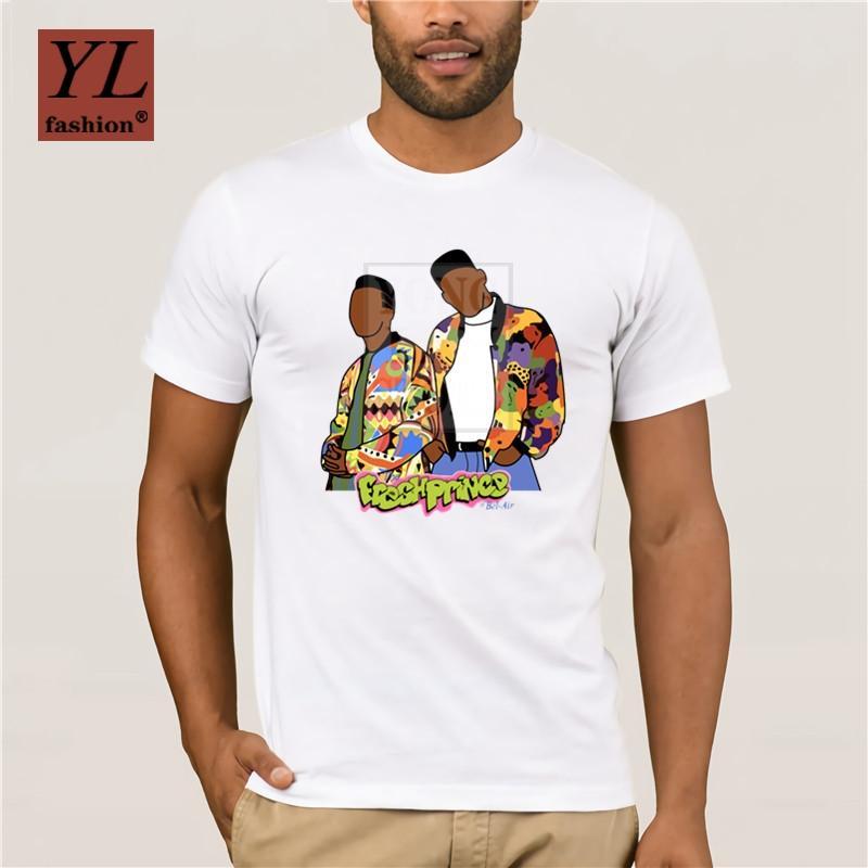 2020 Fashion impressionante Maschio Willy, il principe di Bel Air T Shirt Pure camicie di cotone Nizza Homme Tee
