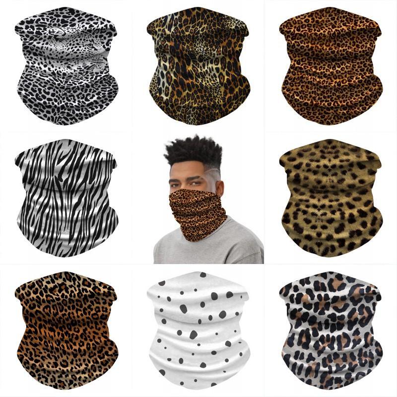 DHL Shipping Unisex Multifuncional sem emenda Bandana leopardo Máscara protectora da botina de pescoço Headwear Tubo Máscara Scarf 8 estilos X521FZ