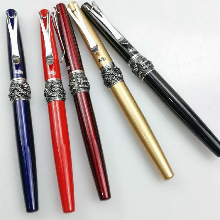 Jinhao Exports Y2 Drago in rilievo Play palla grande fontana penna calligrafia tutte le penne inchiostro in metallo pennino standard