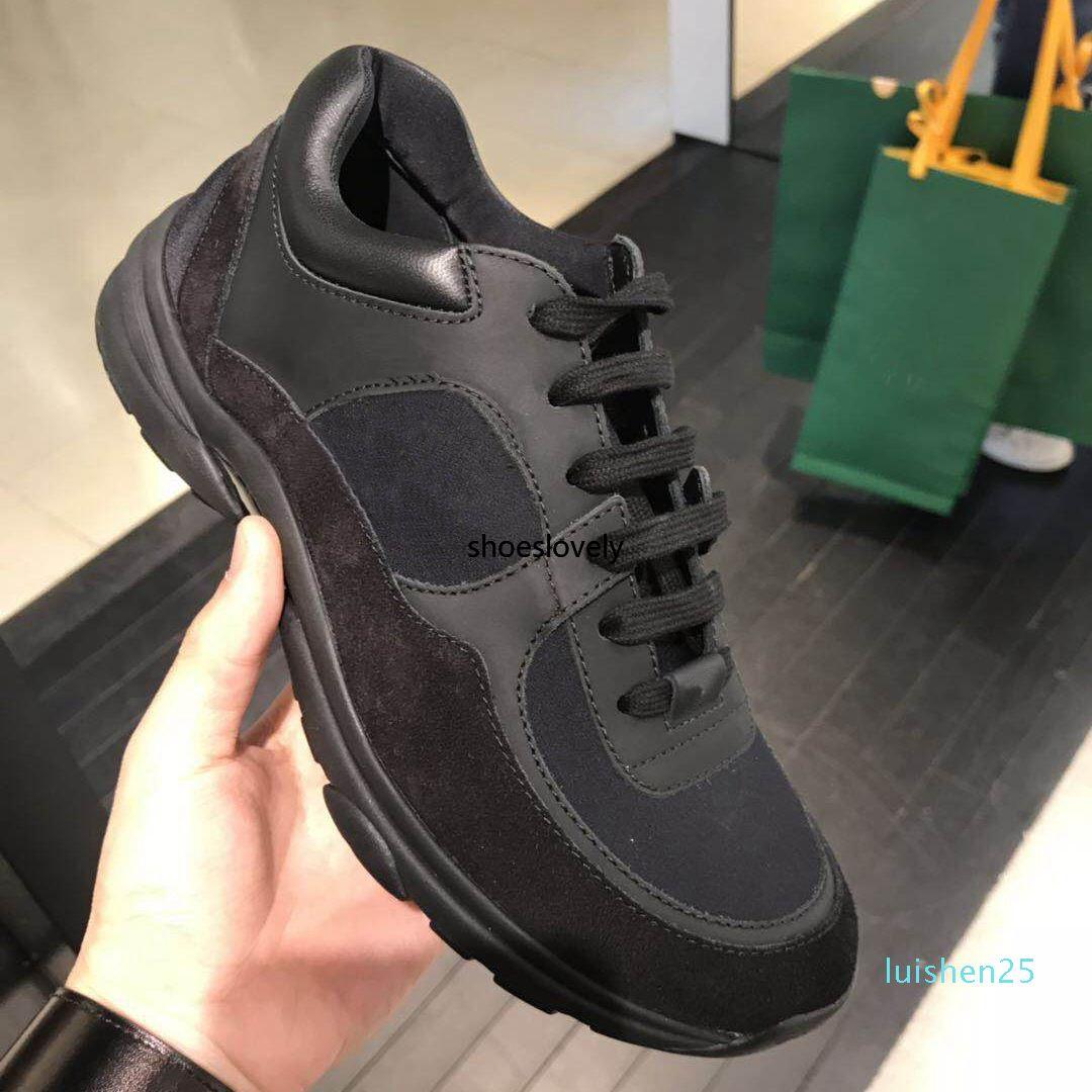 Üst Kadınlar Erkekler Rasgele Ayakkabı Sneakers kadın Deri süet Paris Ayakkabı Platformu Patchwork Sneakers Floresan Chaussures L26