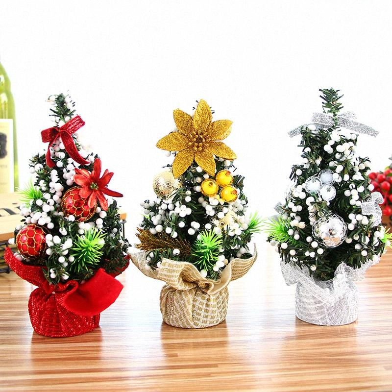 2019 Рождественской елка Нового года Рождество Декор Мини дерева Stand Чулок DIY мешок подарок украшение Crafts 20 CM 0KmD #