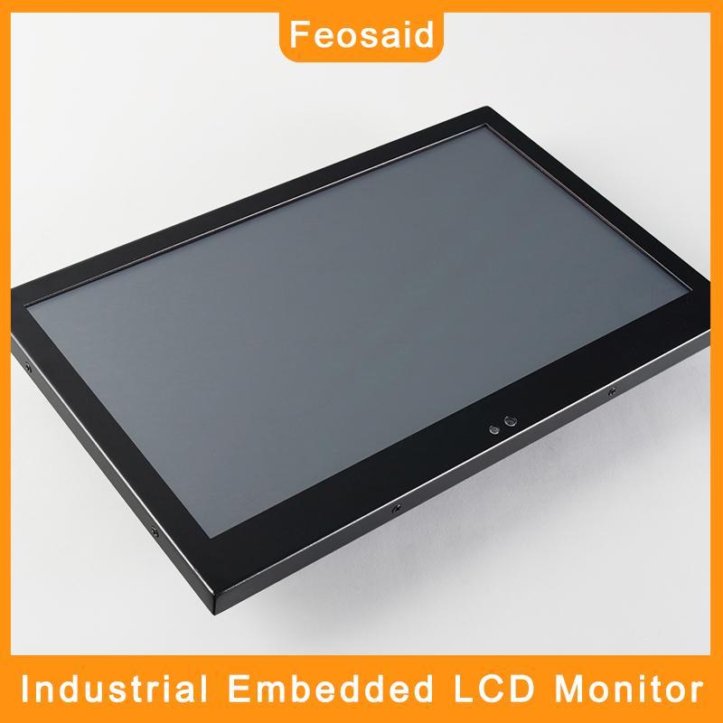 """Feosaid 14"""" 15,6 pouces écran LCD industriel 18,5"""" 17,3"""" Moniteur Tablet intégré Résistance tactile entrée VGA DVI pour ordinateur"""
