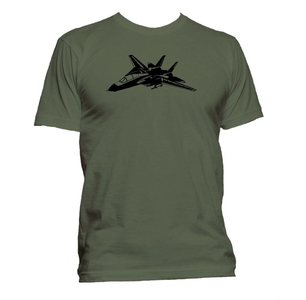 2020 Мода лето Дизайн хлопок Мужской Tee Shirt Проектирование F14 Nt. Самолет. Премиум Tee Shirt