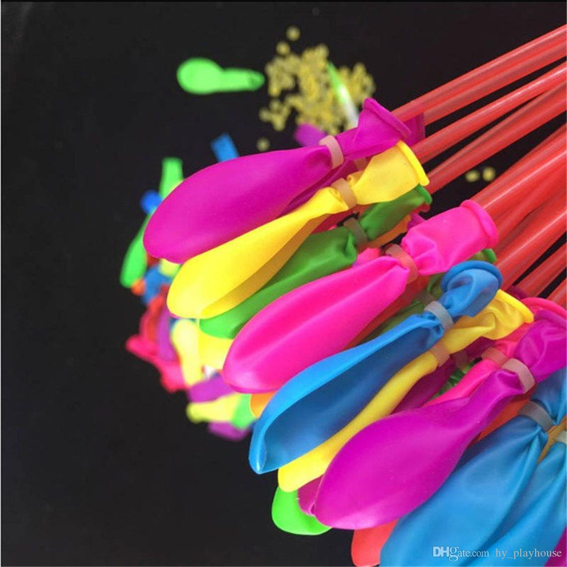 1Set = 111 stücke Sommer Magie Bunte Wasser Ballon Kinder Strand Party Outdoor Spielzeug Wasser Bomben Ballon Kinder Neuheit Gag Spiel TXUBR