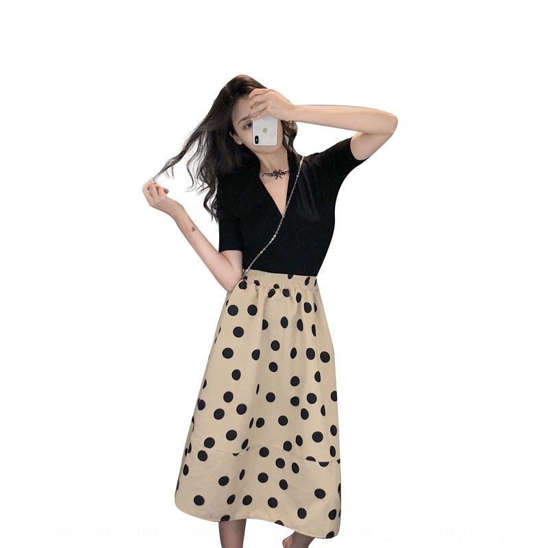 ERslT Platycodon de l'été des femmes de robe Mori français longue robe douce de point de vague super fée printemps et à l'automne Mori