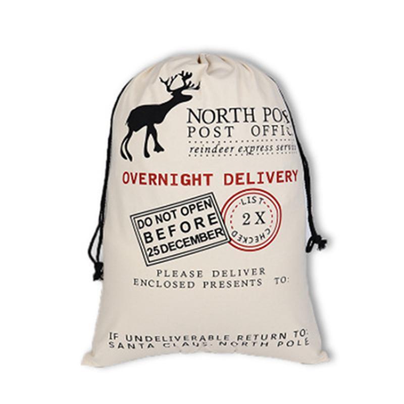 Natal lona com cordão Bag Xmas Papai Noel presentes cordão de pano Saco de Natal do Pólo Norte expresso de lona IIA418