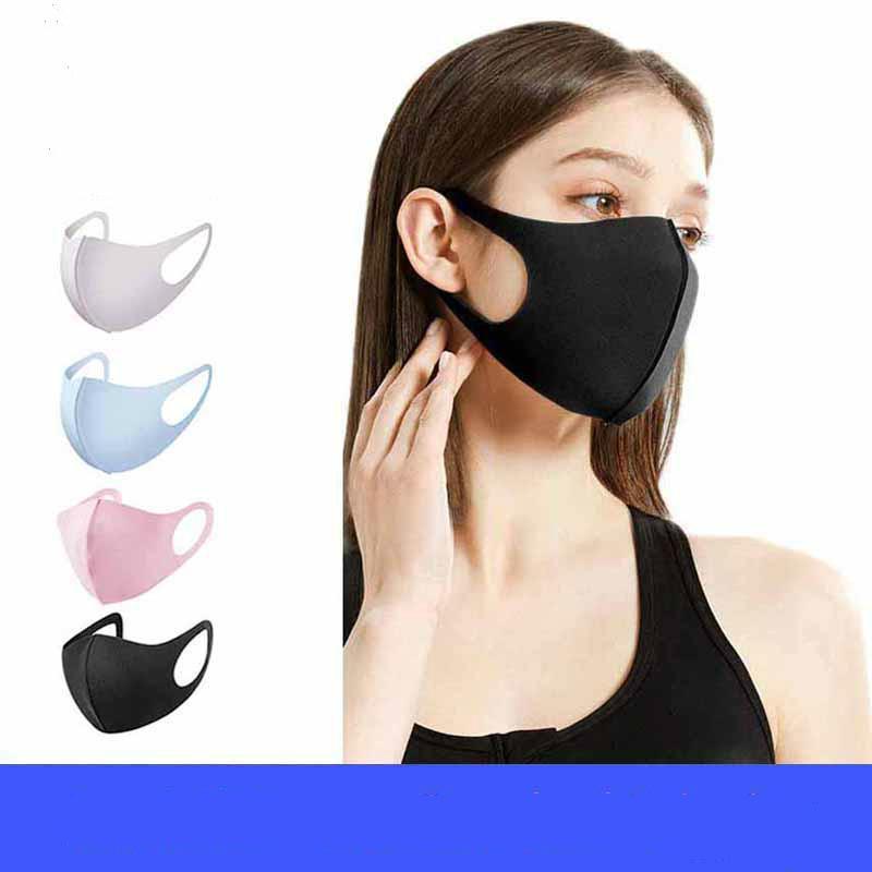 Máscaras Máscaras lavável face Boca Anti poeira Warmer Boca Máscara Facial Poluição Windproof Boca-de mufla Máscara Negra