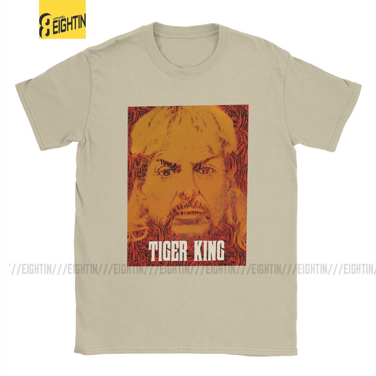 Rei Joe Exotic Tiger camisetas Homens Pure Presidente Cotton Fun T-shirt para a eleição América Big Cats Memes Camiseta de manga curta