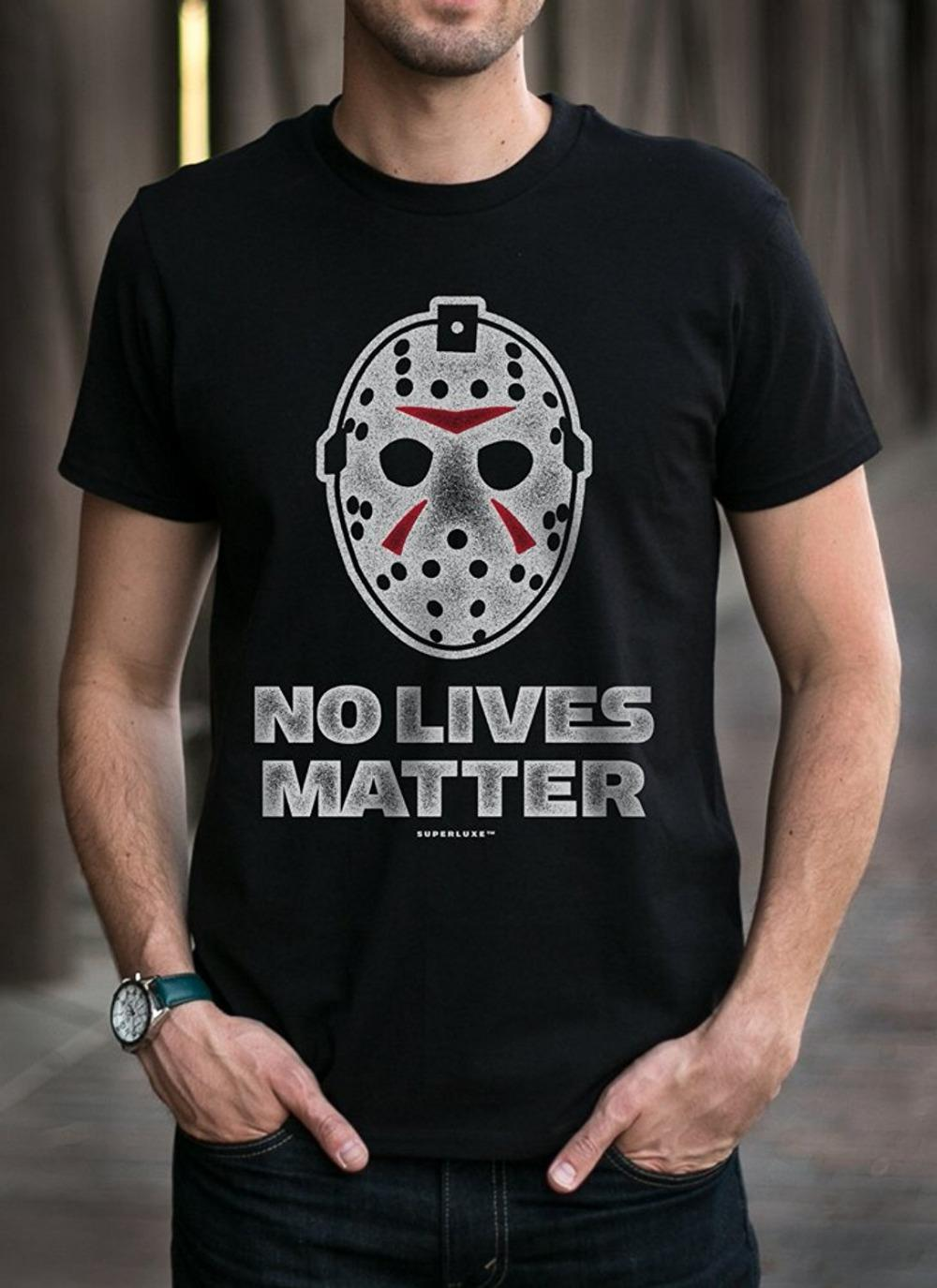 2019 Yeni Yaz Tee Gömlek SuperluxeTrade Erkek Yok Hayatlar Matter kayaklar Tişört Moda tişört Maske