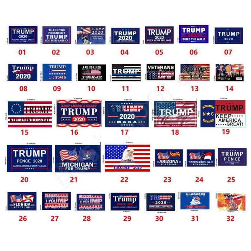 New Customized Trump Flag 90*150cm Trump 2020 Keep America Great Flag USA Flags American Presidential Election Trump Flags CYZ2801