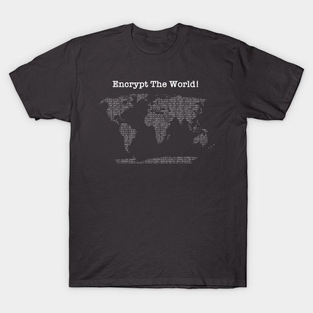 Encrypt Die Welt der Männer-T-Shirt