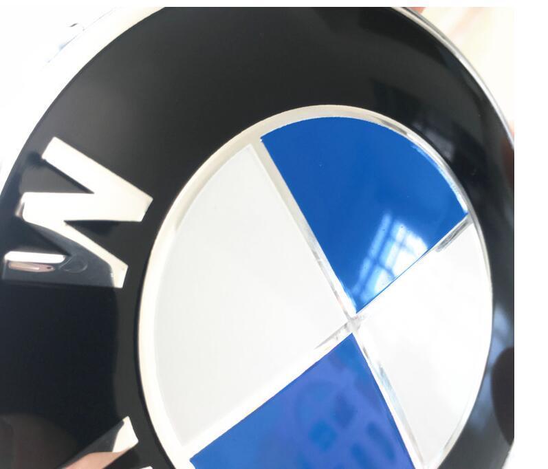 E46 E39 E38 E90 E60 Z3 Z4 X3 X5 X6 için 82mm 74mm Siyah Baz araba amblemi Rozet Hood Ön Bagaj Logosu