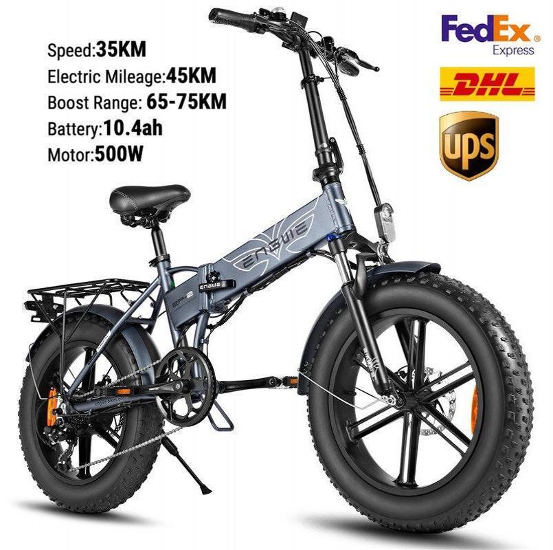 US STOCK de vélo électrique 48V 500W pliant vélo électrique Fat Tire e Vélo VTT hors route à haute vitesse électrique Scooter W41215024