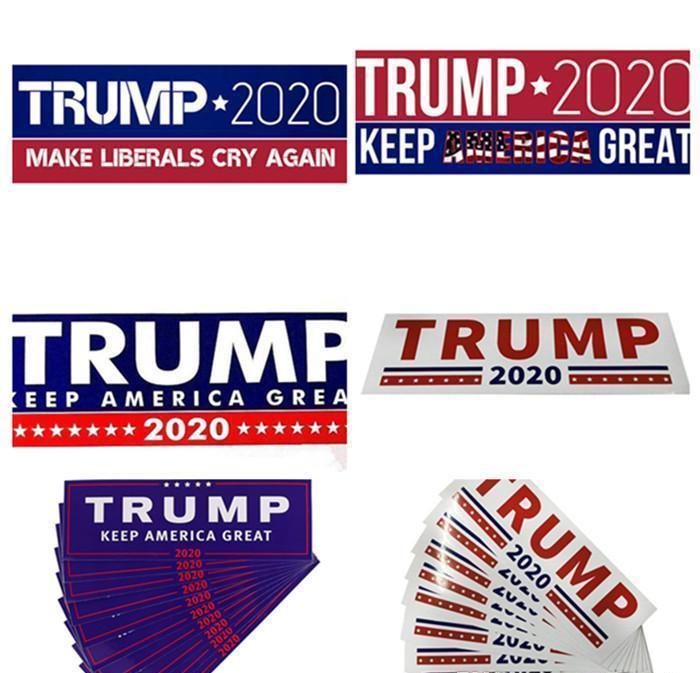 Hot 7.6 * 22,9 cm 2020 Yeni Çıkartması Araba Araba Amerika Paster tutun Donald Trump Araç bbyVY için Stiller Çıkartma Tampon etiketi Şekillendirme 3 Büyük Make