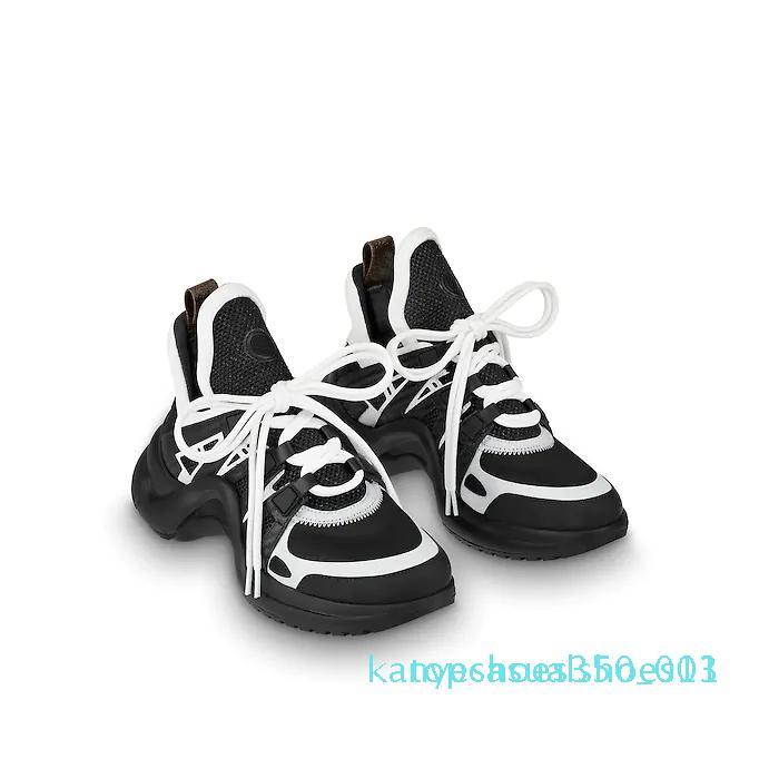 2018 Nuovo design di lusso in pelle Sneakers Fashion ArchLight Sneaker formatori di marca pattini Abito scarpe Stivali all'aperto casual per uomo donna K11