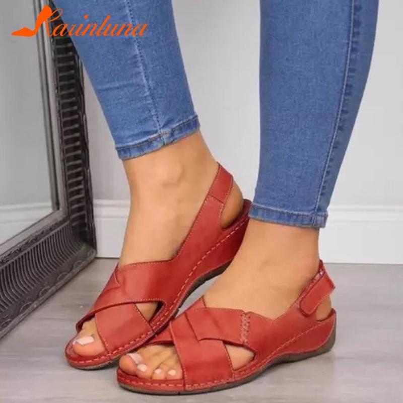 Karin 2020 Nouveau design Big Taille 43 talons compensés confortable INS Dropship Summer Sandales Chaussures Femme Sandales femme