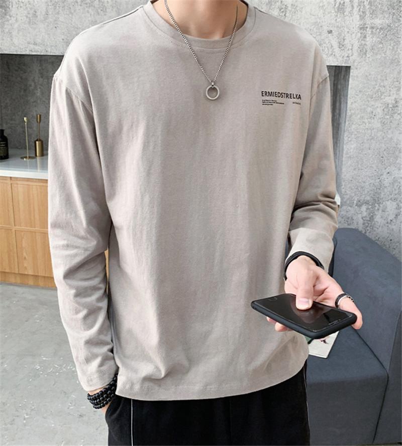 Sleeve Teenager Sweatshirts Langarm-O Ansatz Male Apparel Designer Herren-Buchstabe gedrucktes T-Shirt Mode-Atem-Lange