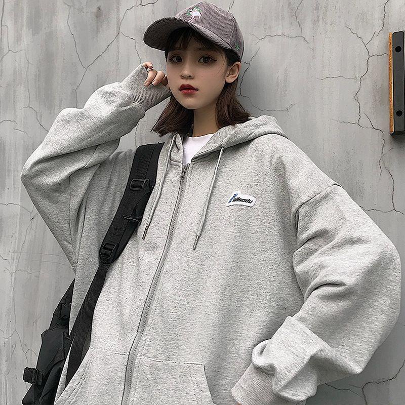 Хлопок 2020 осень Новый корейский стиль тонкий кардиган молния длинным рукавом Толстовка Женская бейсбол костюм спортивной фуфайки sweatshirtBaseba