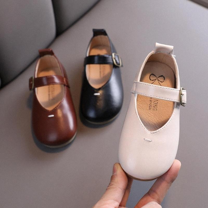 Niño de los cabritos de los bebés zapatos de la princesa zapatos con suela blanda cómoda ocasional sandalias de verano sandalias de bebé para las muchachas del bebé zapato de cuero nIDW #