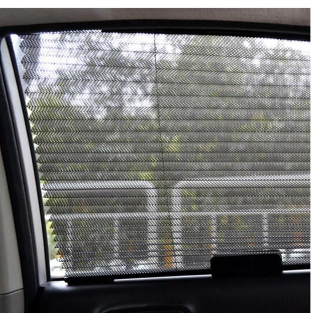 46x3x60cm الأسود للسيارات سيارة قابل للسحب الستار نافذة جانبية الظل الزجاج الأمامي أحد الدرع Visorcar مظلة نافذة جانبية