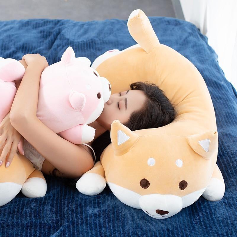 1 шт. Прекрасный толстый Shiba Inu Corgi собака плюшевые игрушки фаршированные мягкие каваи животных мультфильм подушка куклы подарок для детей детские дети C0924