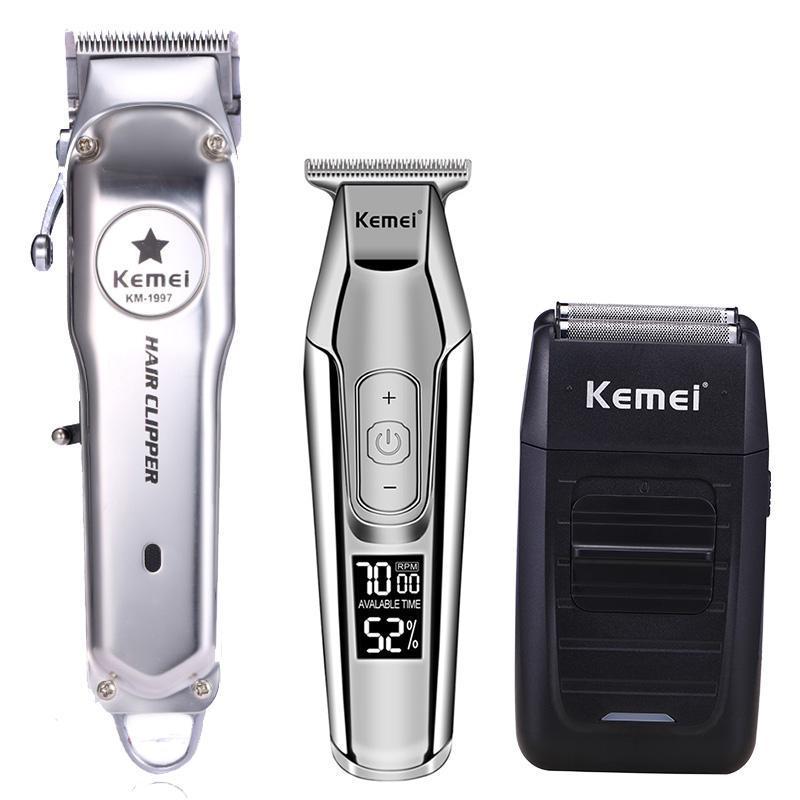 Lectrique Cheveux Máquina Kit Kemei 2024 Tout En metal Professionnel Tondeuse Cheveux recarregável Tondeuse Cheveux Coupe De iD
