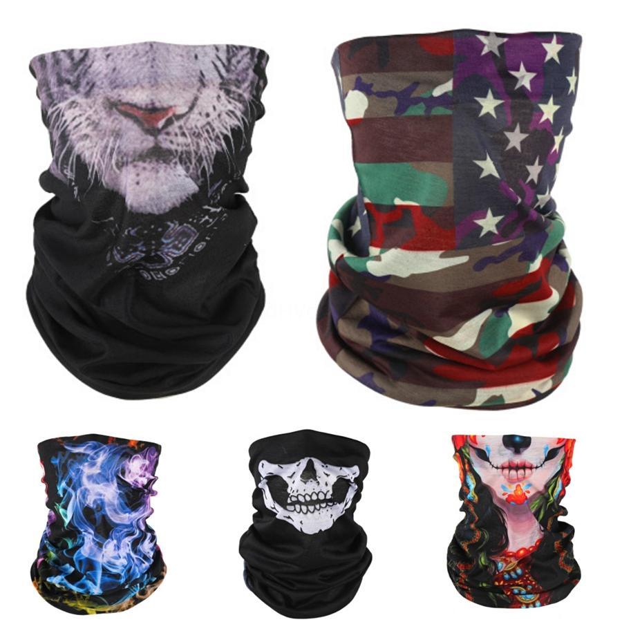 Maschera maschere Outdoor Usa Flag magica Headskull Sciarpa Bandana in bicicletta capo del collo Sciarpe antivento Sport Fronte Con Filter Designer Mask T2I510 # 964