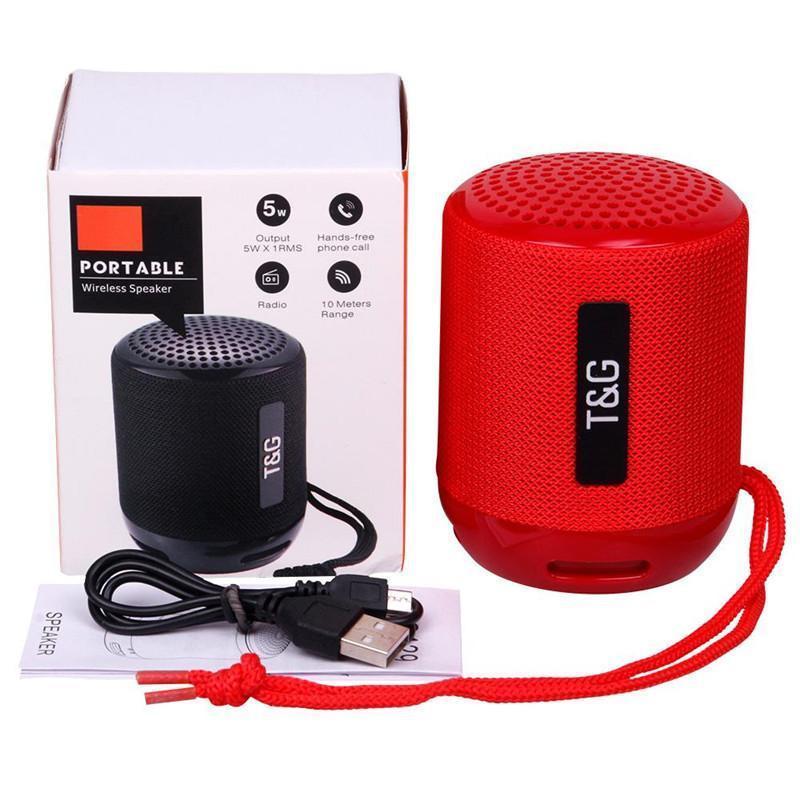 TG129 Mini alto-falantes Bluetooth portátil sem fio Subwoofer Stereo HiFi Sound Box Handsfree FM TF USB AUX Speaker Outdoor Audio Player MQ30