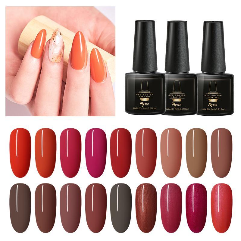 MTSSII 6 Colors Gel Nail Polish Set Manicure Soak Off UV