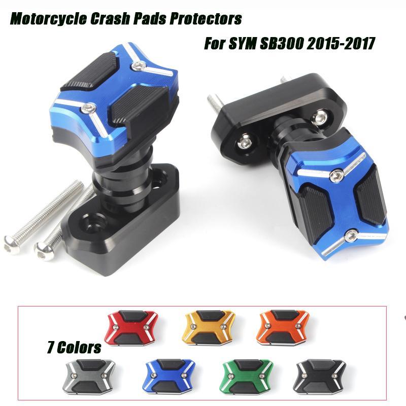 Une paire de moto Cave cadre coulissant du couvercle du moteur Évasion Crash Pads Protecteurs Set Silp sur pour SYM 2020 SB300 2020
