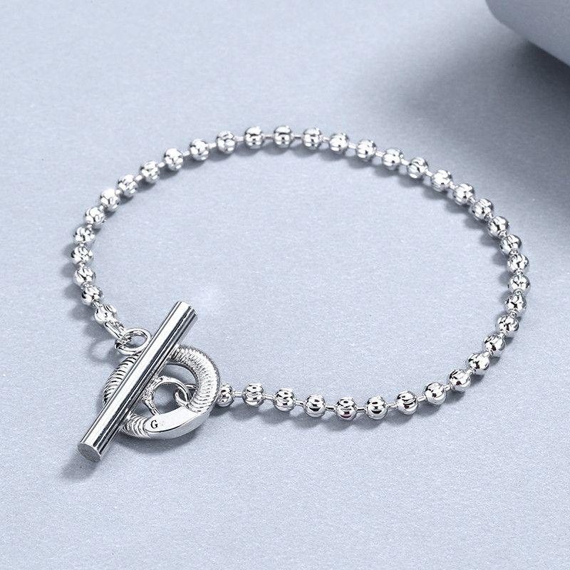 Bracciale in argento fascino classico Top ha placcato i braccialetti di qualità Bracciale in argento per bracciale unisex gioielli di moda del rifornimento