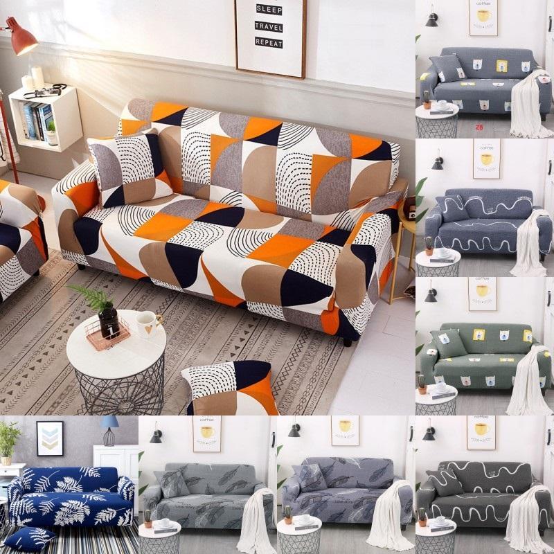 Stretch Диван Обложка 1/2/3/4 Seater Диван Обложка INS Детская комната Гостиная Slipcovers Dust Proof Упругие Couch Обложка