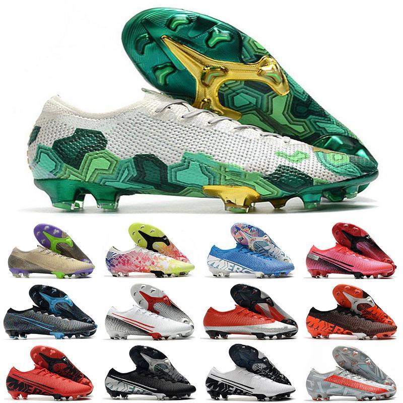 새로운 조명 chuteiras 13 낮은 발목 축구 신발 Mercurial Superfly 7 엘리트 360 FG 남성 여성 아이 소년 축구 Cleats EUR35-45