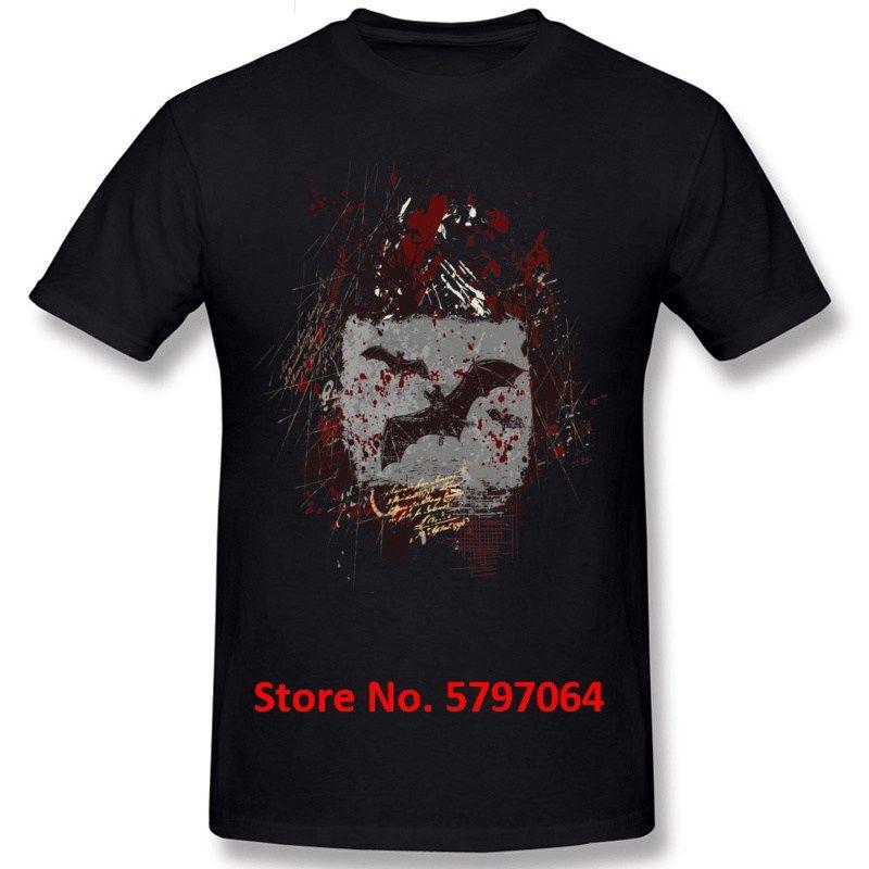 2020 Homens T-Shirt Vestuário Tops Tees 100% Algodão queda Summer manga curta tripulação estilo clássico Neck Imprimir bastões de vampiro Grunge