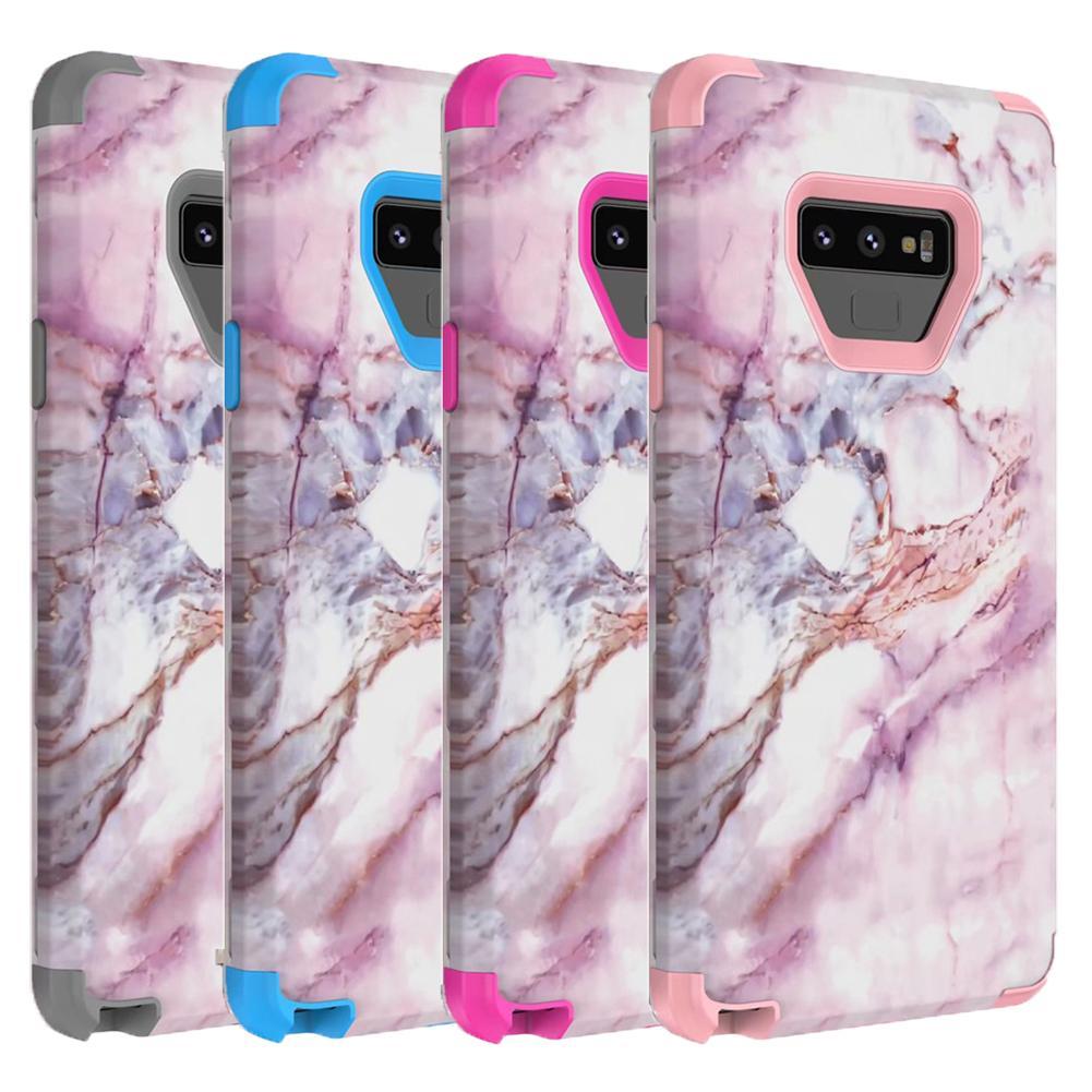 Для Samaung Примечание 9 Case Marble Defender Case 3в1 Heavy Duty Hybrid Full-Body Защитная крышка телефона Чехлы для Samsung Galaxy Note 9