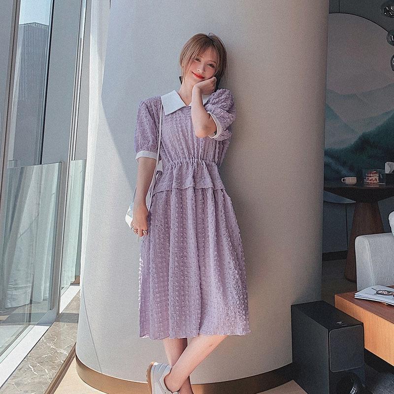 pyNmL 2020 grandiflorum dressSummer nuova Mori vestito manicotto della bolla francese delicato stile studente bambola collare dressDoll Platycodon JjAVS vestito