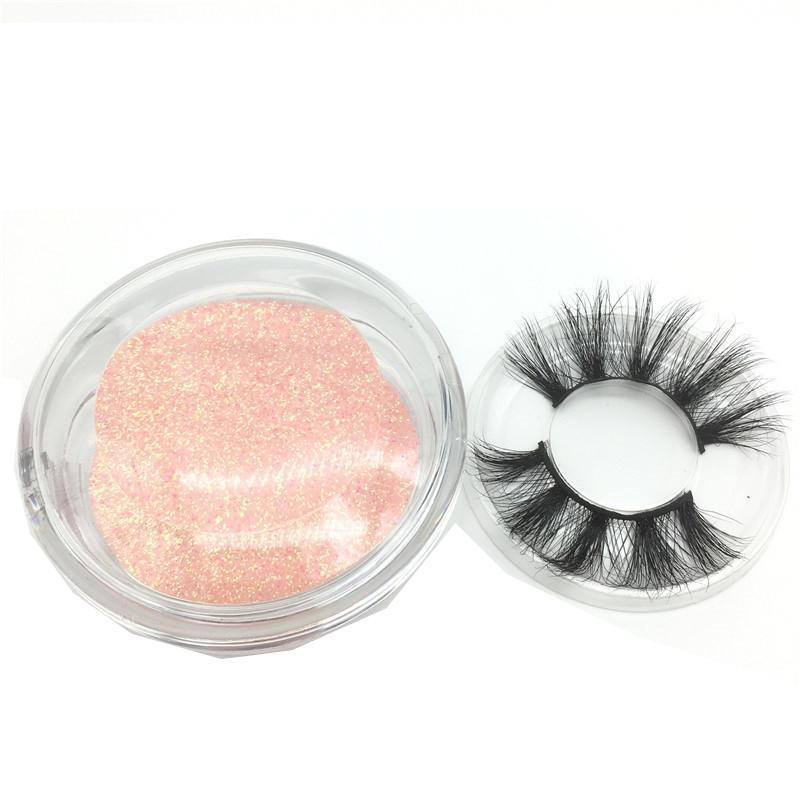Estilo 25MM Hot 3D Mink cílios longos Dramatic 100% Mink cílios Maquiagem 5d Mink cílios Thick as pestanas falsas longas da pestana