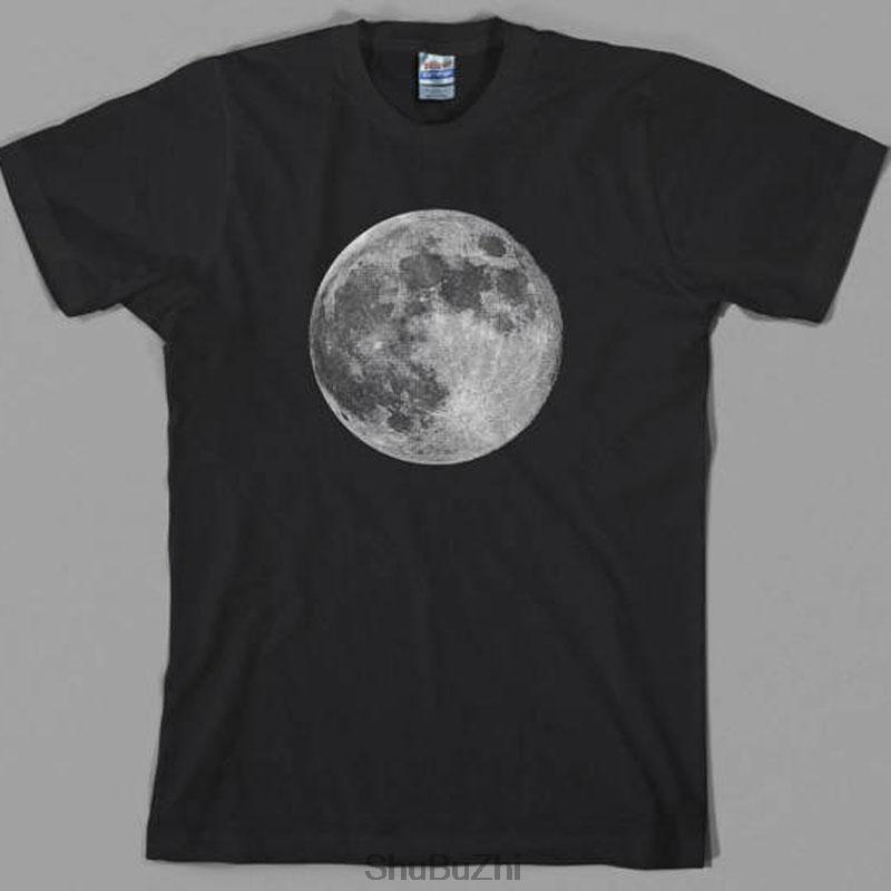 Büyük boyutta tişört Dolunay Tişörtlü, astronot, uzay, toprak, gezegenler, bilim, yabancı, hediye MEN tişört yaz moda serin