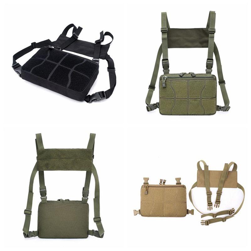 Hip Hop Tactical Chest Rig Bag Backpack Men Adjustable Multi-Functional Molle Tool Pouch Shoulder Bag Tactical Vest