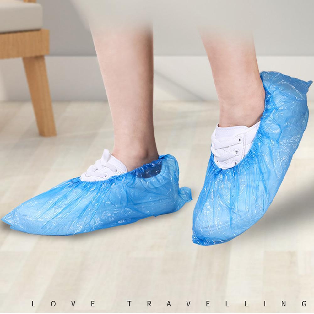 DHL 무료 가정용 보호 구두 커버 일회용 신발 부츠 덮개 방수 비 슬립 방지 내구성 습식 신발 커버