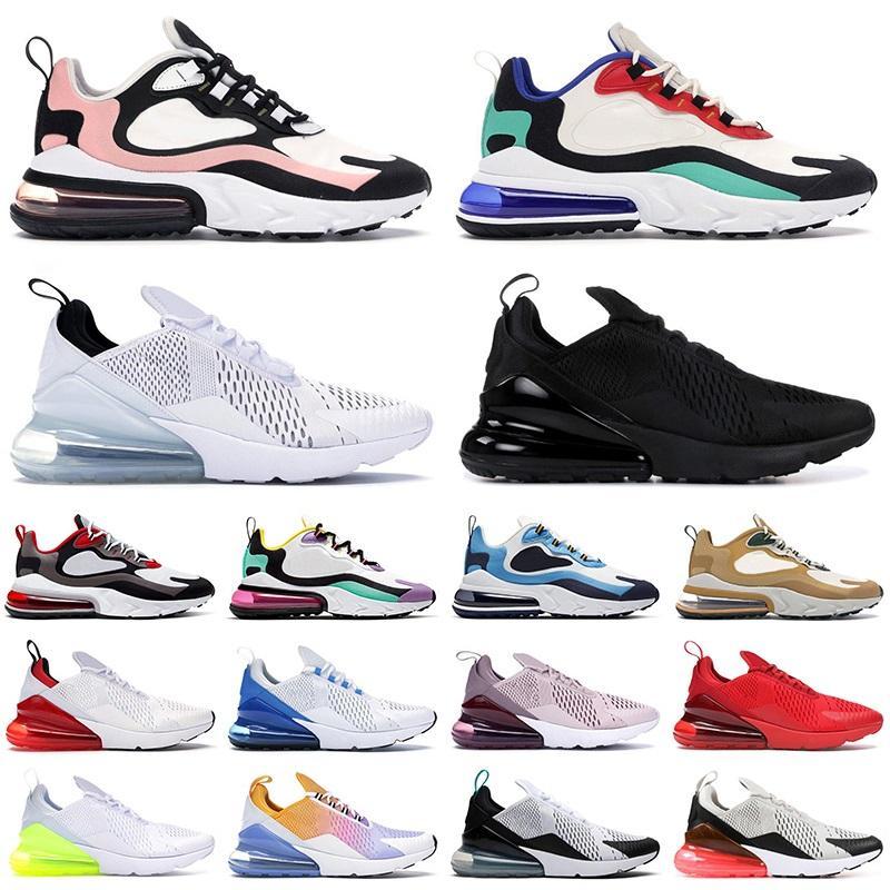270 React shoes мужские кроссовки женские кроссовки Triple White черный Красный Фото Синий UNC Bauhaus Iron Grey мужские спортивные кроссовки на открытом воздухе