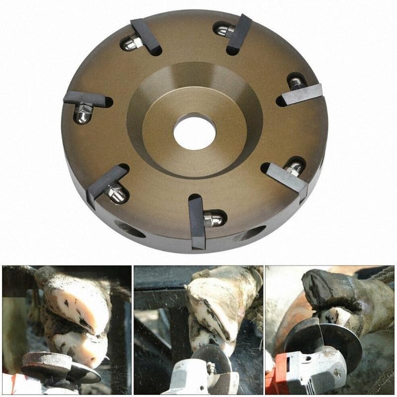 Recém Cow Hoof cortador Disc Dishs 7 facas elétrica cascos Placa cortador Disc lN2U #