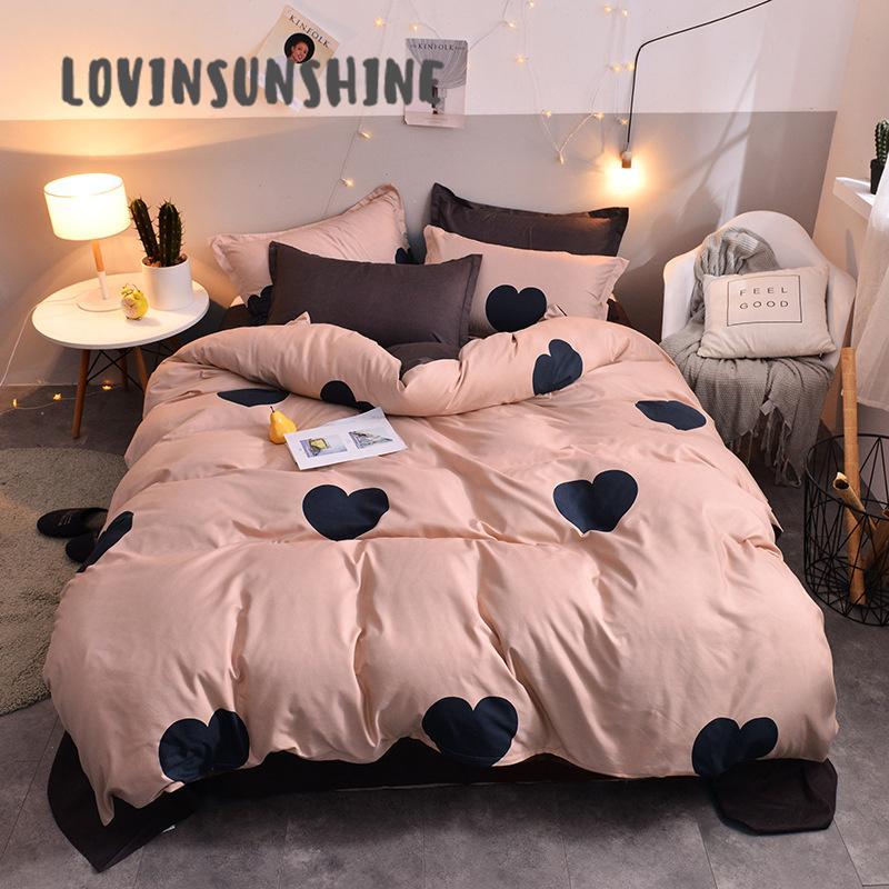 LOVINSUNSHINE Consolateur Literie Housse de couette Reine Accueil Textile Amour 4pcs Pattern Bed Quilt AB # 42