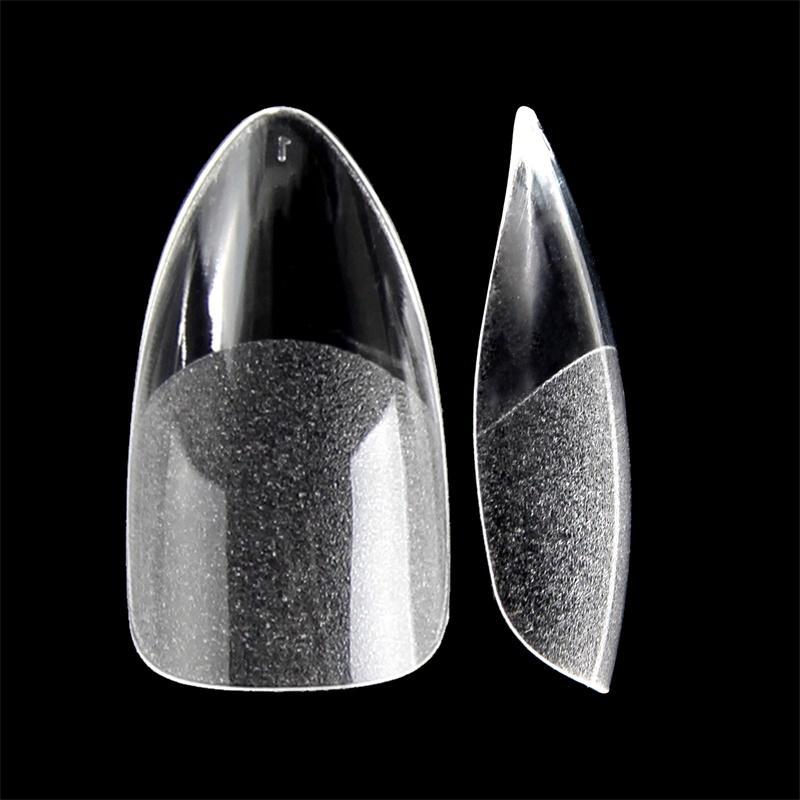 False Nails 360 шт. Поддельные шпильки наполовину матовые дна точечные ногти французский стиль салон DIY искусство искусства ногтей
