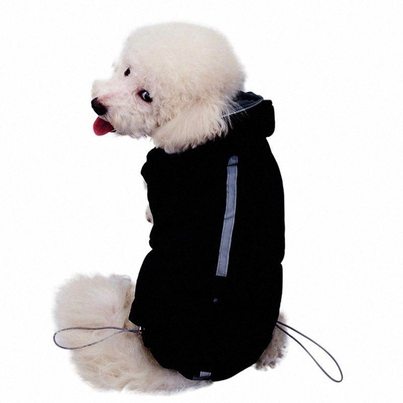 Roupa do animal de estimação para o outono eo inverno Dogs pequeno Quente Acessórios com tempo frio com capuz 2-legged Brasão VEOc #