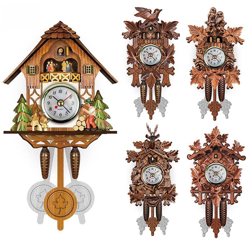 Vintage Zuhause-Vogel Kuckuck Pendel Wanduhr Holz Dekorative Wohnzimmer-hängende 129X231X55mm Wanduhr Wohnzimmer XD22591