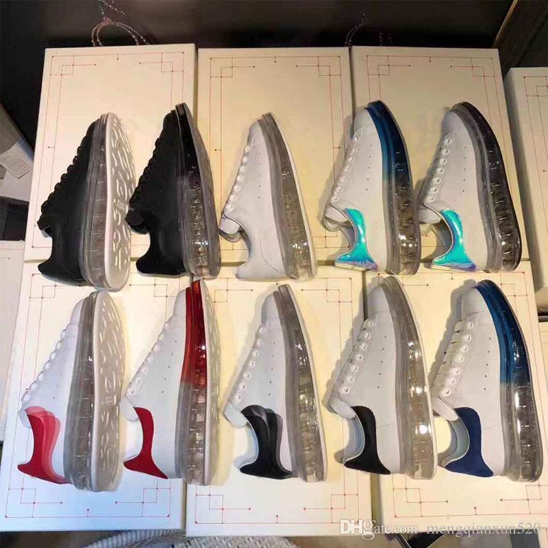 Кристалл обувь Черный Белый платформы Классический Повседневная обувь Повседневная обувь Спорт женщин людей кроссовки дизайнер одежды Кристалл Низ обуви Спорт