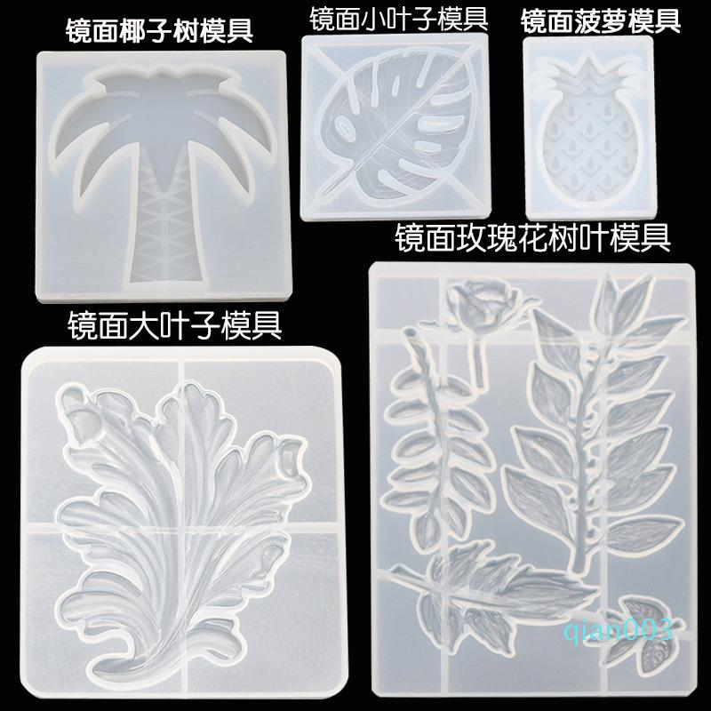 Crystal Molds Silicone Leaf Eco Friendly Dropping Glue Mold Popular Handmade Transparent Moulds Reusable New Patterns 12dy J1