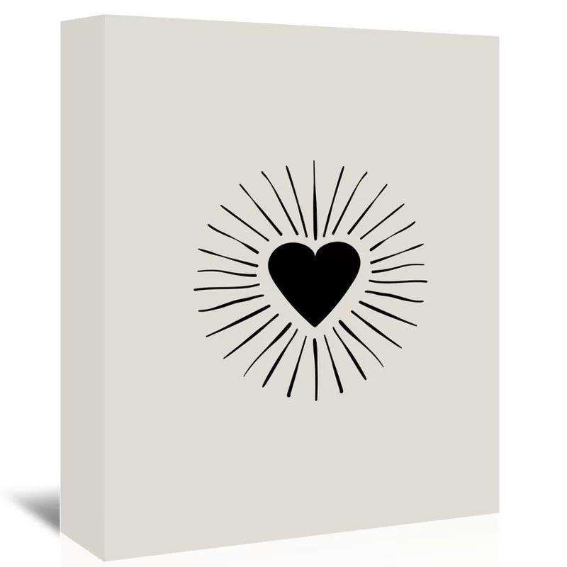 1 Pcs peinture sur toile Accueil Éclatement coeur noir Décoration murale Art Image Prints Cadre modulaire moderne affiche pour Living Room