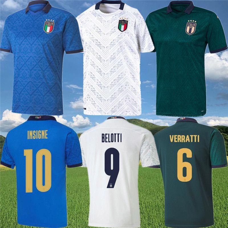 ITALY INSIGNE BELOTTI Soccer Jerseys 2020 maillots de foot VERRATTI JORGINHO IMMOBILE PIRLO BONUCCI EL SHAARAWY Football shirts